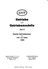 Cover der Schrift zu Getrieben und Getriebemodellen