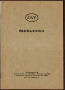 Cover einer alten AWF-Veröffentlichung - ein Leitfaden für Mess-Uhren